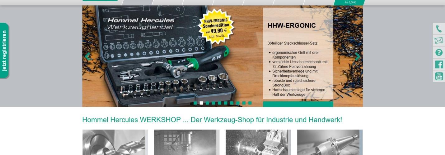 Hommel & Hercules Webshop – ISI agentur